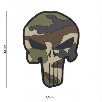 Patch Punisher Woodland Camo