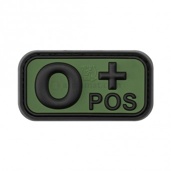Patch PVC Blood 0+ (OD)