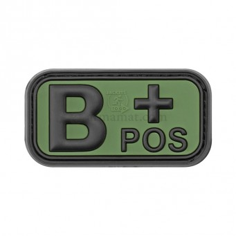 Patch PVC Blood B+ (OD)