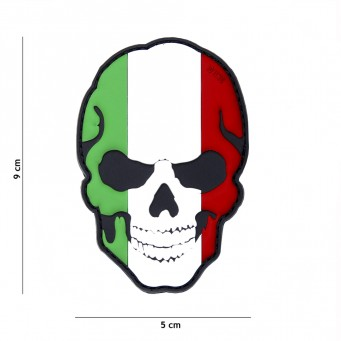 Patch PVC Skull Flag Italy