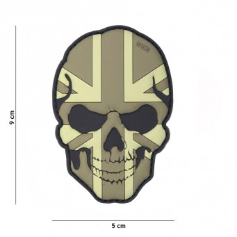 Patch PVC Skull Flag UK