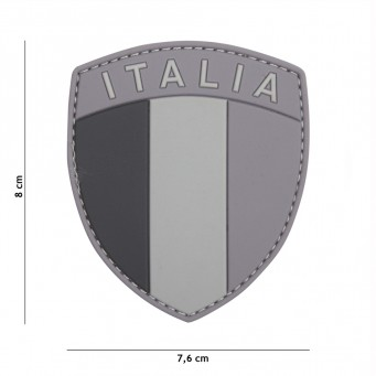 Patch PVC Scudetto Italia (Grey)