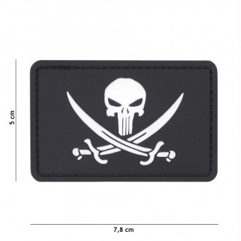 Patch PVC Punisher Pirate (Nera)