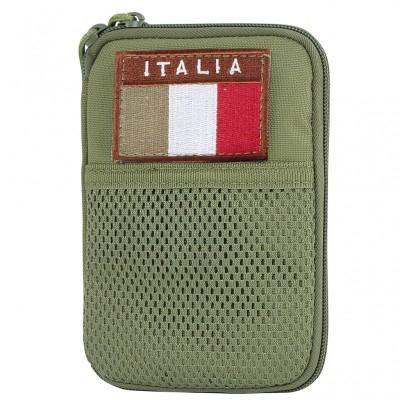 Tasca Multiuso Porta Documenti Bandiera ITA (Verde)