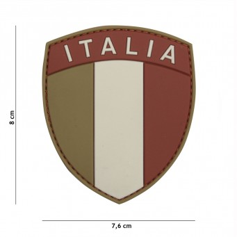 Patch PVC Scudetto Italia (Arid)