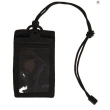 Porta Badge ID Patta Velcro Rimovibie (Nero)