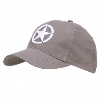 Baseball Cap Allied Star WWII 3D (Grigio)