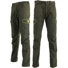 Pantaloni con fodera in Kevlar antispine (Verde/Giallo)