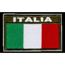 Patch Italia Ricamata 8x5 cm (Verde)